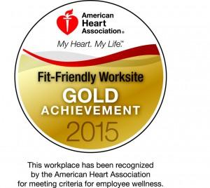 American Heart Association Fit-Friendly Worksite Gold Achievement 2015