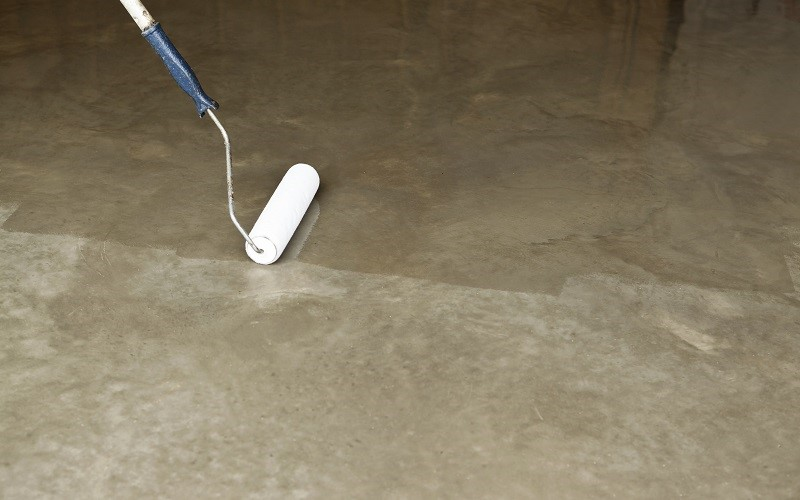 clear sealing concrete floor