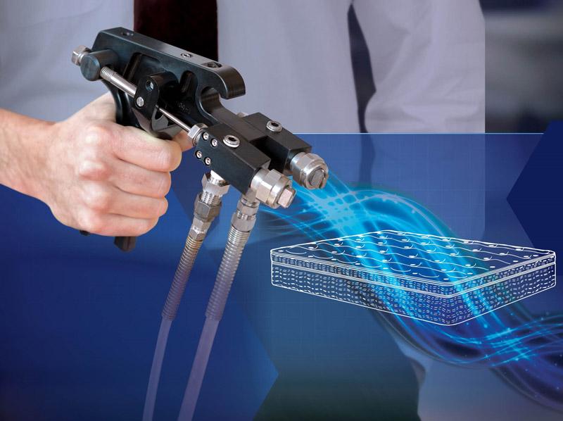 spreayclean spray gun for foam fabricating adhesives