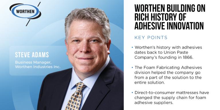 Steve Adams Business Manager, Worthen Industries Inc.